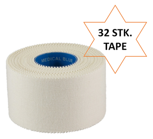 Medical Blue sportstape - SportDoc coach tape - Hvid sports tape 32 stk. (14,- kr./stk.)