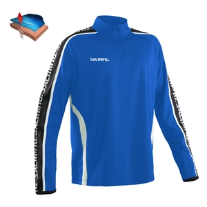 Salming trøje Hector Half Zip -Senior - Royal blue - Unisex - (Str. S-XXXL)